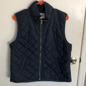 Navy quilted vest